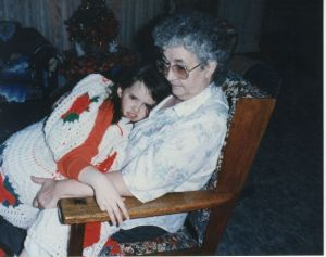That's My Sick Face: Memere Holding Me, 1992 (9 Years Old)