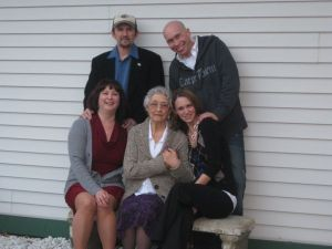 Mom, Dad, Thommy & Rhea- Celebrate Memere on her Birthday - October 2010 - Potsdam, NY