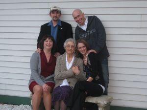 Mom, Dad, Thommy & Rhea- Celebrate Memere on her Birthday - October 2010 - Potsdam, NY